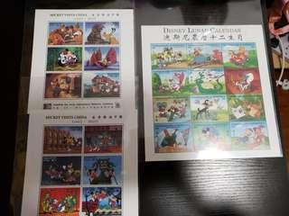 迪士尼 Disney 郵票,其他國家郵票
