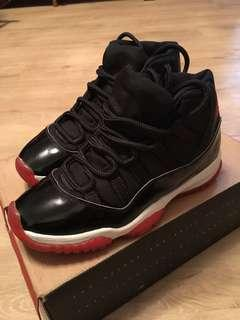Nike AIR Jordan 11 黑 us7.5號