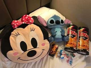 **生日禮物**東京直送 特大Disney Minnie公仔頭咕𠱸 迪士尼公仔