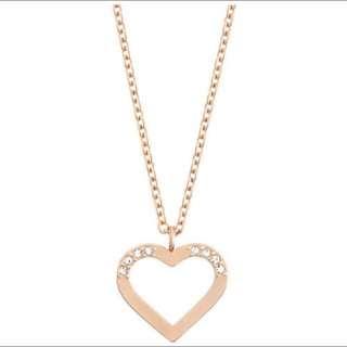 Swarovski Charm Necklace(Rose Gold)