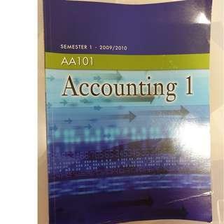 AA101 Accounting 1  Semester 1 (2009/2010)