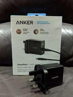 Anker PowerPort+1 Quick Charge 3.0 USB Charger [SG Plug]