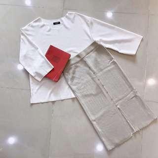 🚚 排扣開叉針織長裙/joyceshop購入