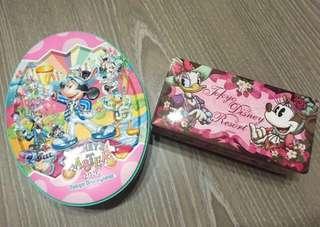 ⏰特價出清免運~私物🇯🇵東京迪士尼 復活節橢圓鐵盒&黛西與米妮鐵盒 (空盒)