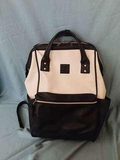 Anello Ivory & Navy Large Rucksack Backpack