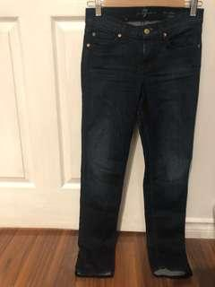 Seven for all mankind dark blue jeans
