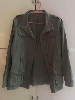 Oversized army green jacket
