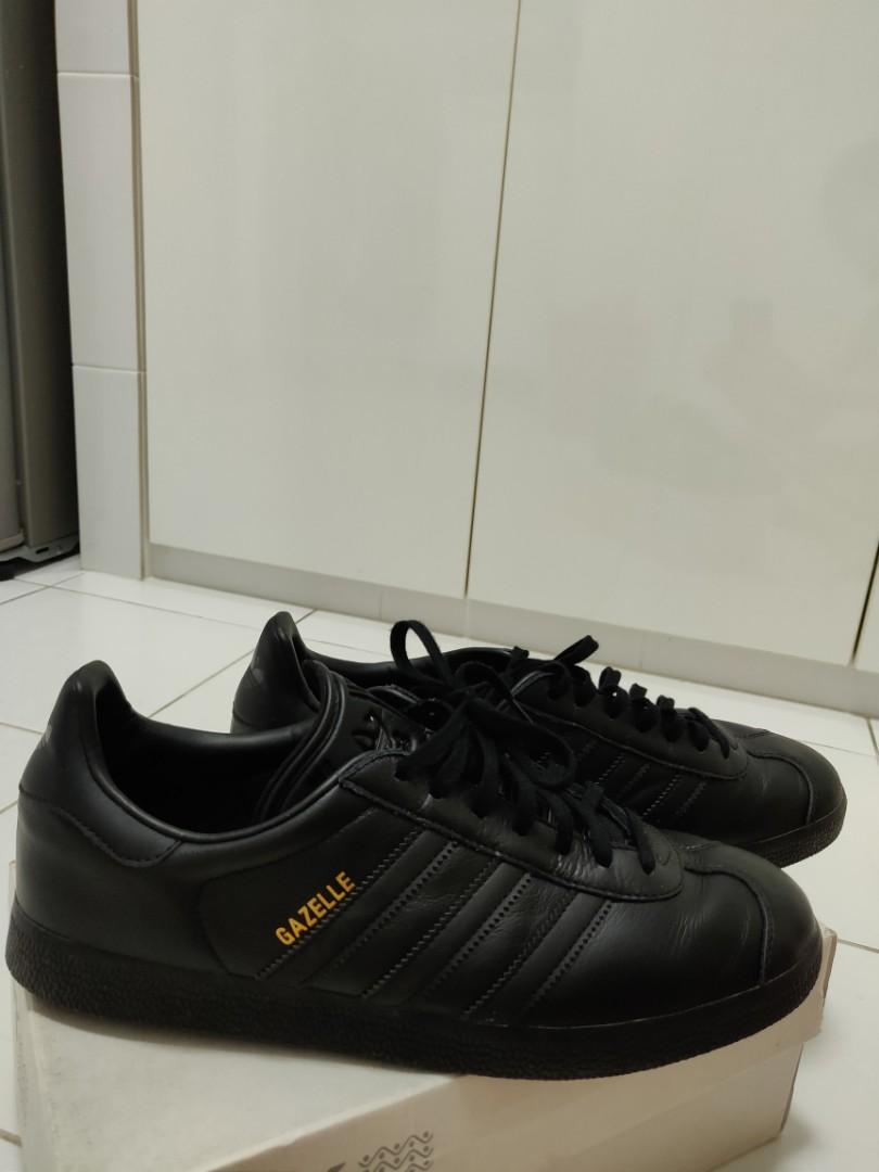 Adidas Gazelle Black leather sneakers