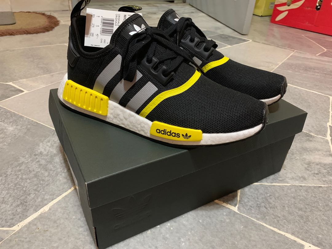 info for 2e1a5 1f4c4 Adidas NMD R1 (Black/Yellow)