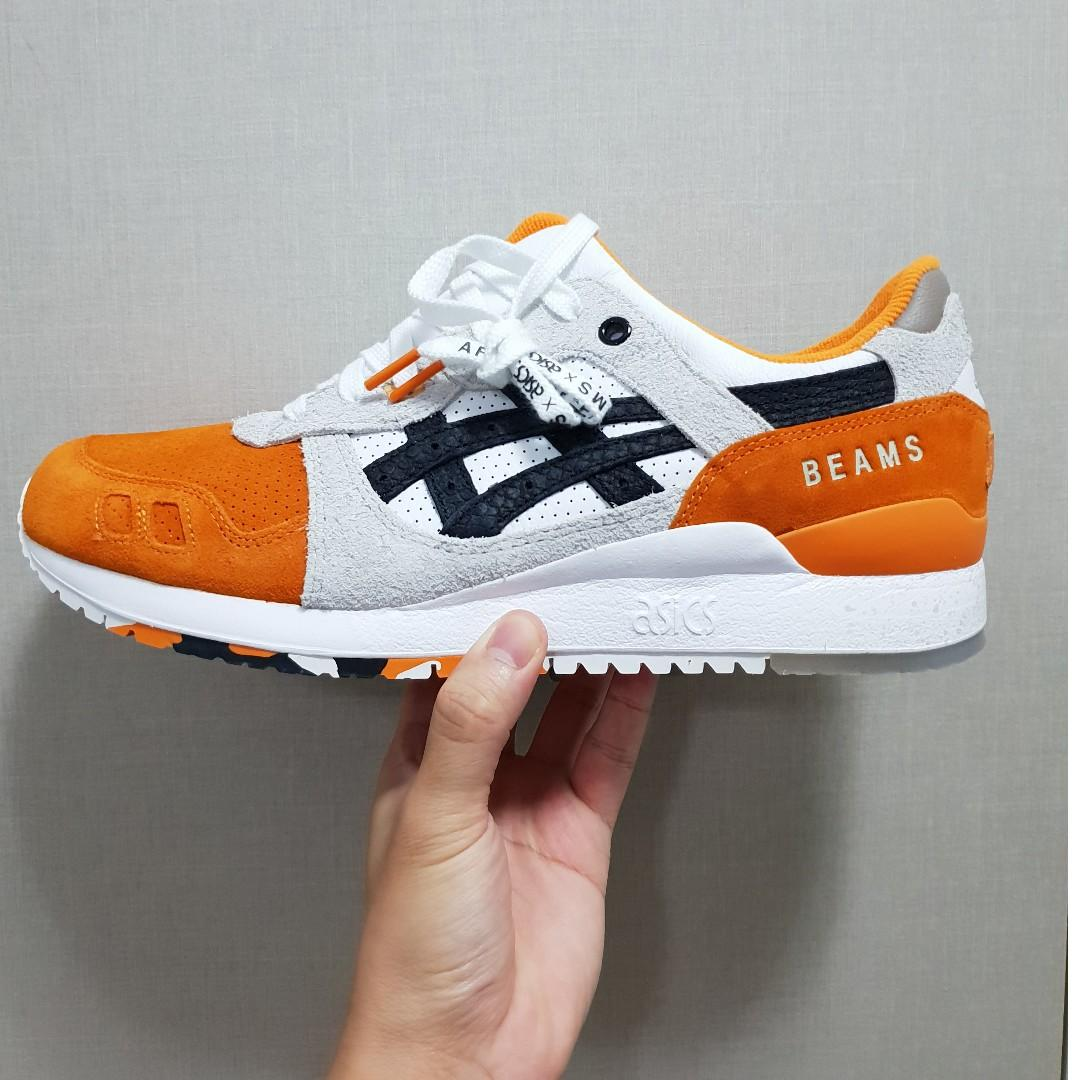 premium selection 7ea6b 9f5df Asics Gel-Lyte III Afew x Beams Orange Koi, Men's Fashion ...