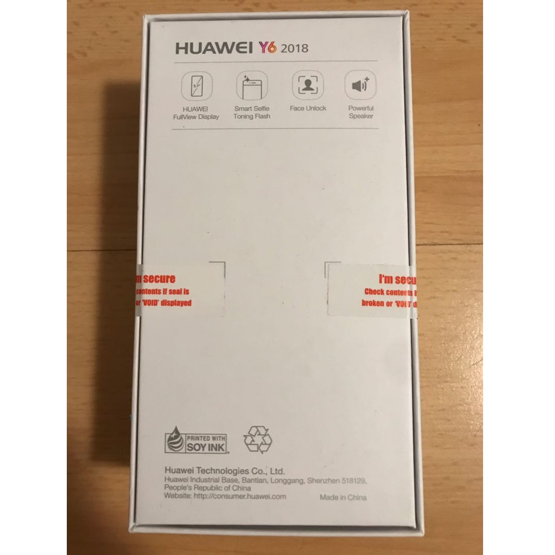 Brand new Huawei Y6 Smart Phone with face unlock