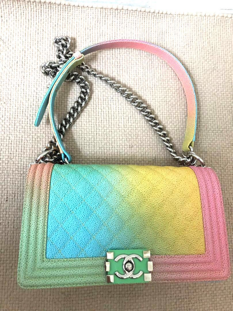 1b8b7561be18 BRAND NEW! VERY FIRST SEASON - Boy Chanel Rainbow Bag, Luxury, Bags &  Wallets, Handbags on Carousell