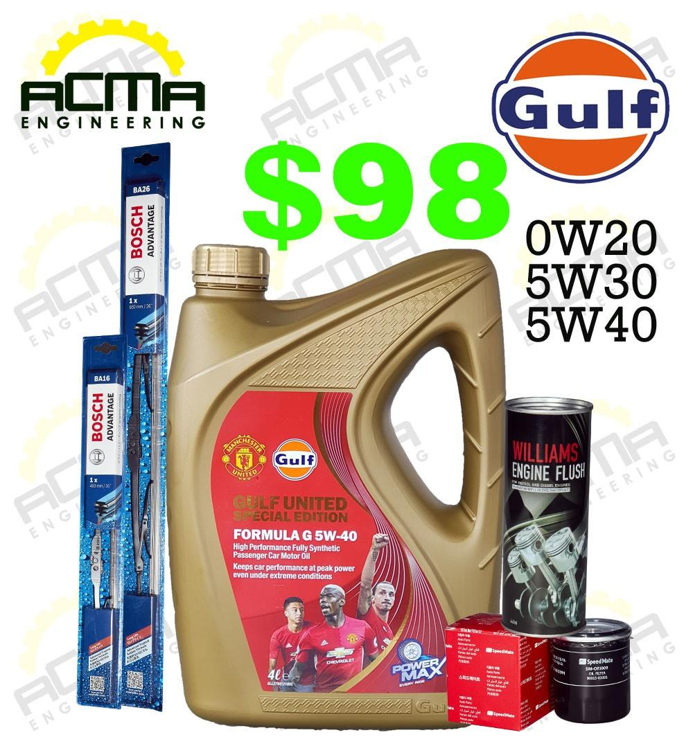 Car Servicing Gulf Oil Package, Car Accessories on Carousell