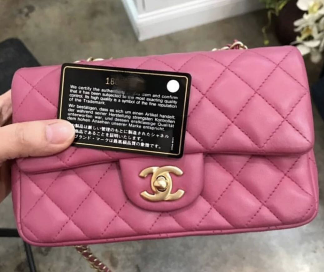 499b57004162 Chanel Mini Rectangular Pink Lambskin with GHW. 18series., Luxury ...