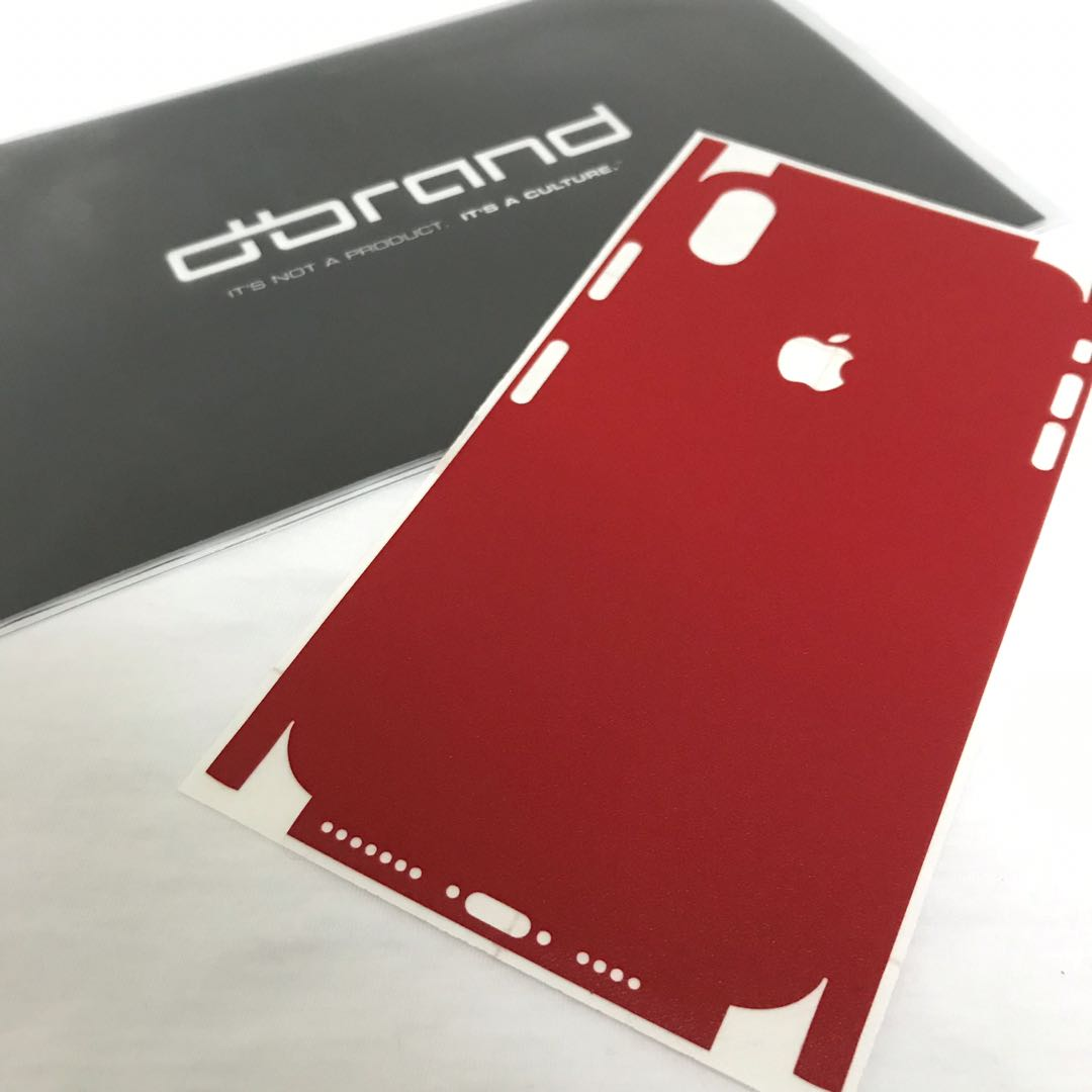 half off c7cf1 1f299 dbrand Full Wrap Red Skin for iPhone Xs Max