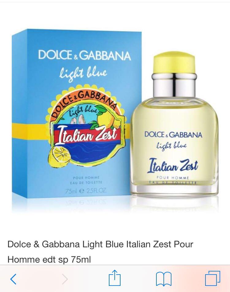 1fc3cb67 DG light blue pour Homme Italian zest 75ml, Health & Beauty ...