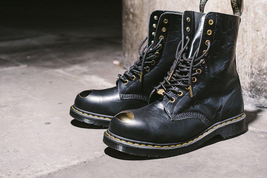 025dc377780 Dr. Martens x Bathing Ape 1490 boots, Men's Fashion, Footwear, Boots ...
