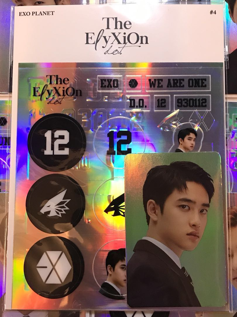 Exo Do Kyungsoo Elyxion Dot Deco Sticker Hologram Photocard