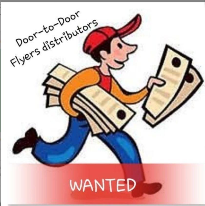 Flyer distributor door to door- Jurong area