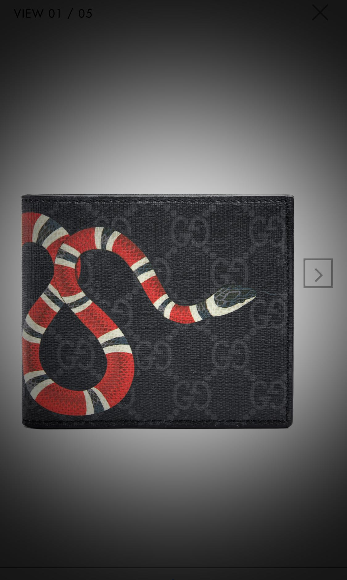 54ca3f57e98a Gucci kingsnake men's wallet, Men's Fashion, Bags & Wallets, Wallets ...