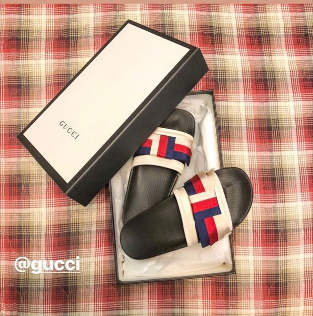 077d8429010d Gucci Satin Slides with Sylvie bow