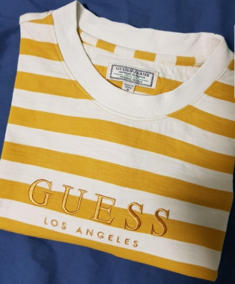 0870972b0940 Guess Original Logo Striped Tee, Men's Fashion, Clothes, Tops on ...