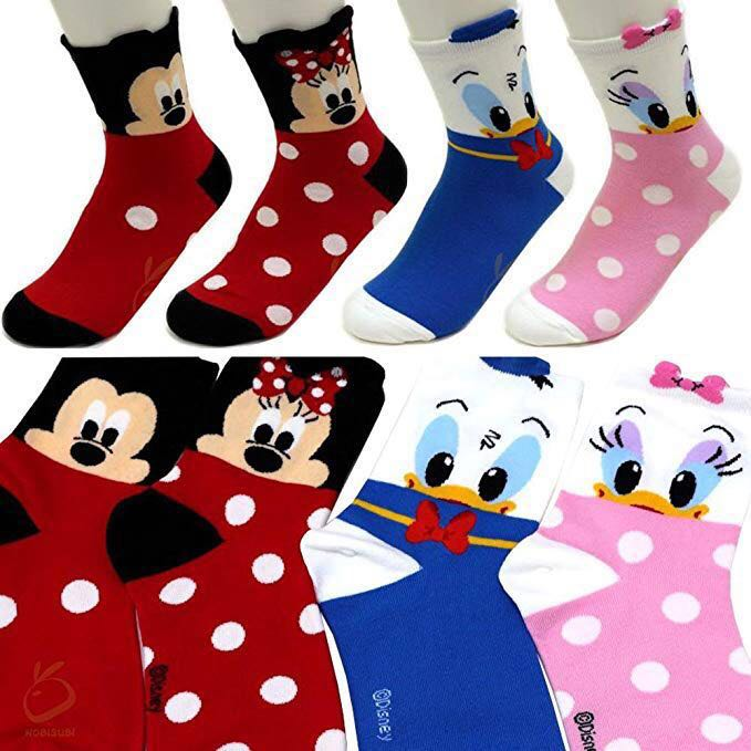 1cfa32ca270 instock Long Ulzzang Cute Disney socks Minnie Mickey Mouse Donald ...