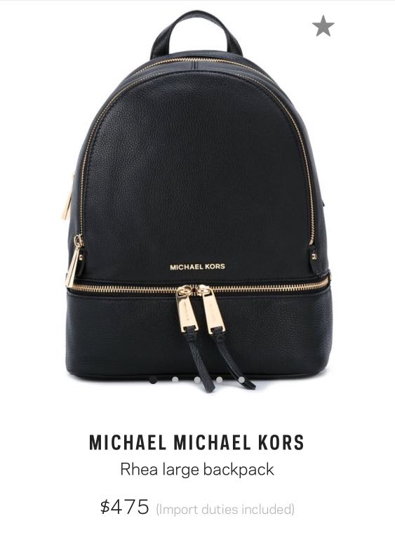 9e27e5176428 Michael Kors Rhea Large Backpack