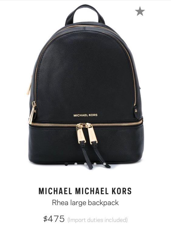 a40bc93020c9 Michael Kors Rhea Large Backpack, Women's Fashion, Bags & Wallets ...