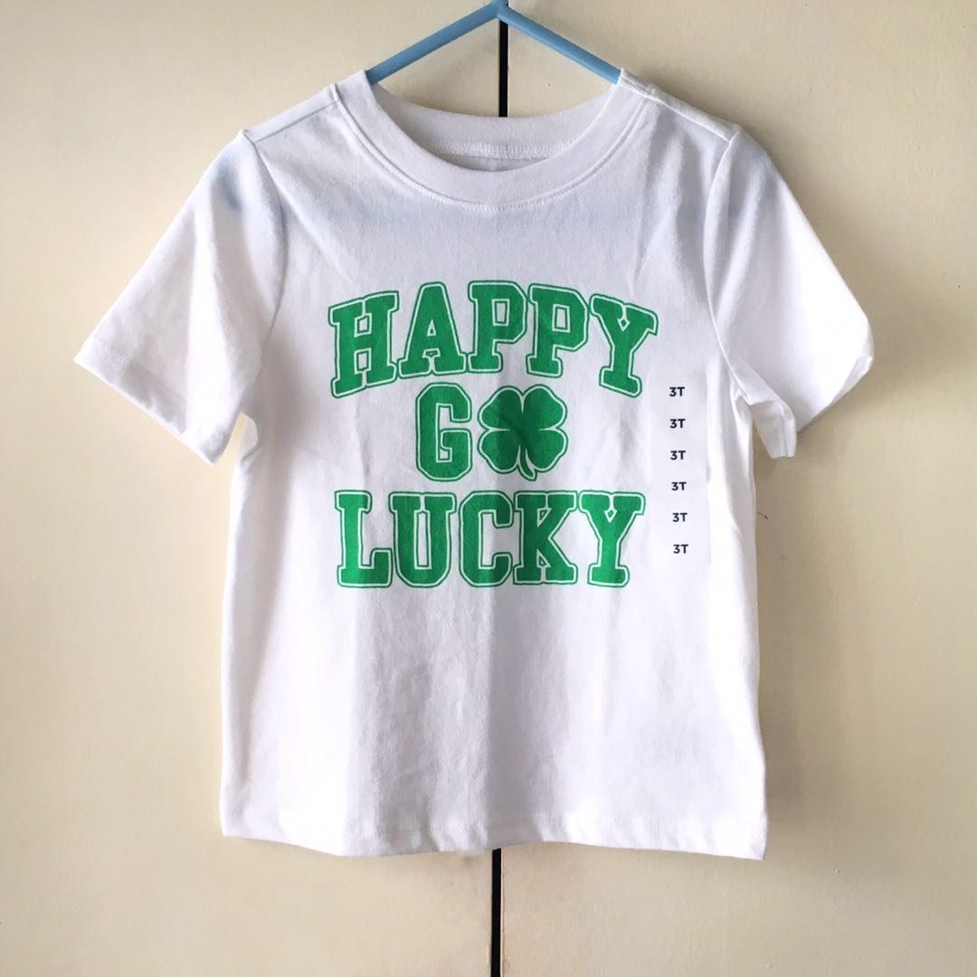 10169fa0 NEW! Old Navy Boys' White St. Patrick's Day Shirt / Top (Size 3T ...