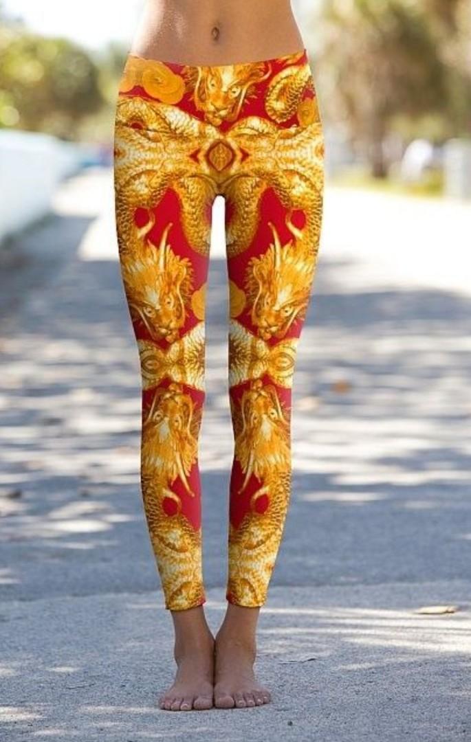 4360836d0dc11 Om Shanti Yoga Pants - Size: XS, Sports, Sports Apparel on Carousell