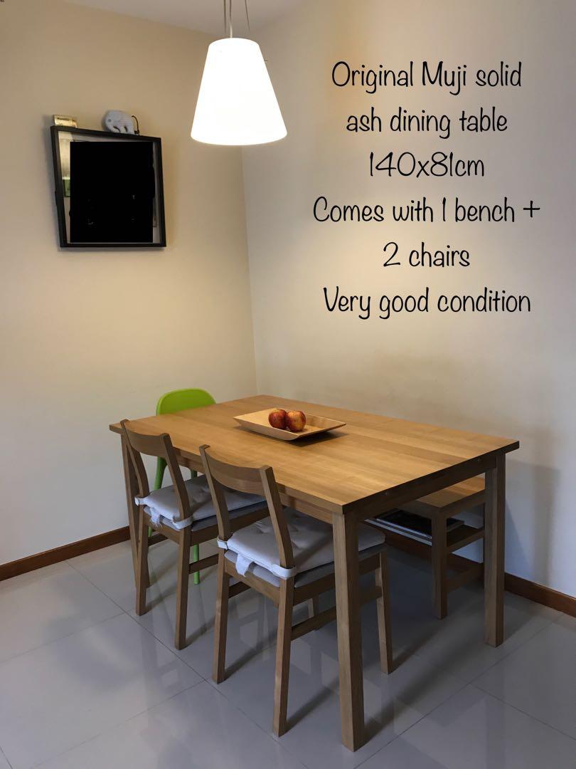 Prime Original Muji Dining Set Furniture Tables Chairs On Download Free Architecture Designs Rallybritishbridgeorg