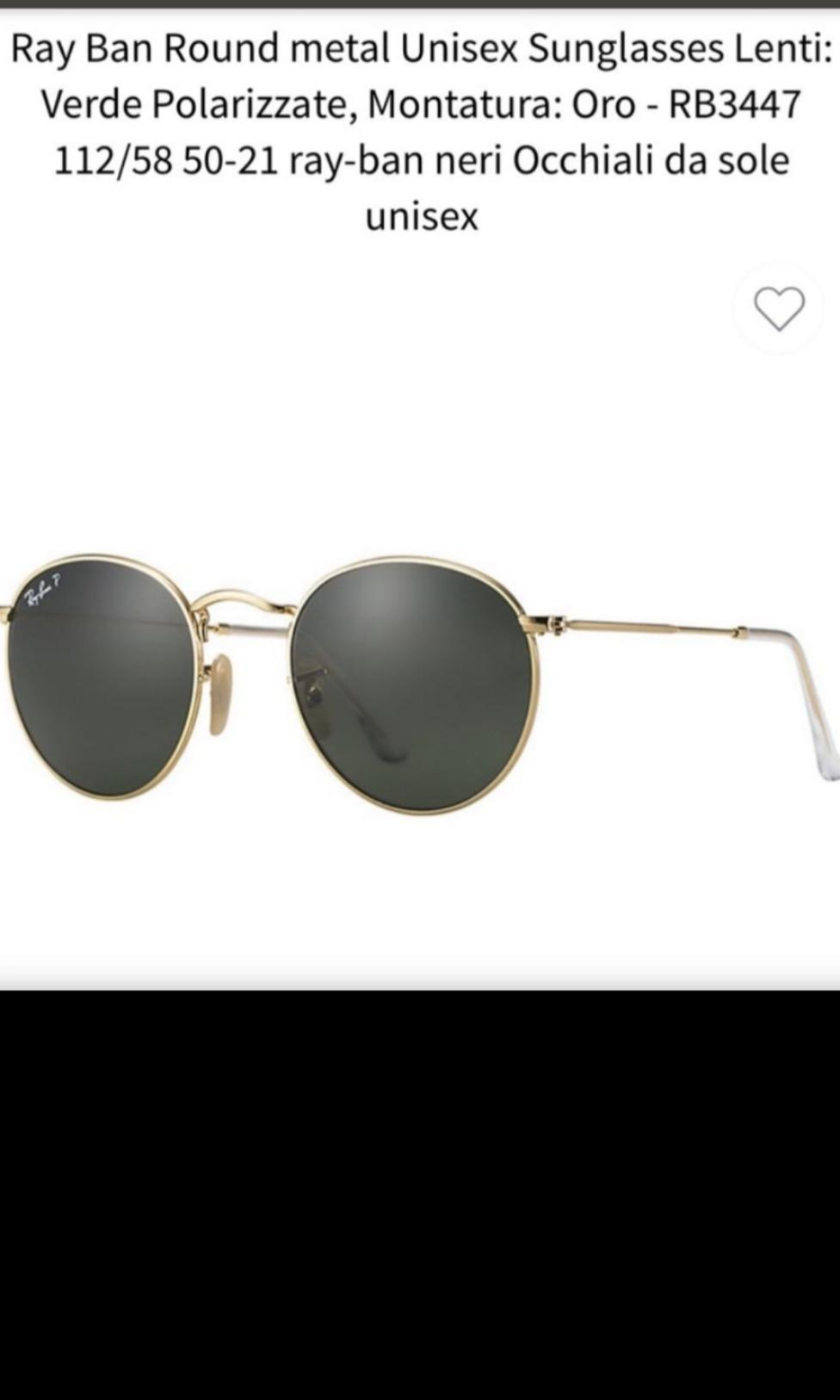 3840acf15 Original/Genuine Ray Ban Round Metal Sunglasses (oro rb3447 112/58 ...