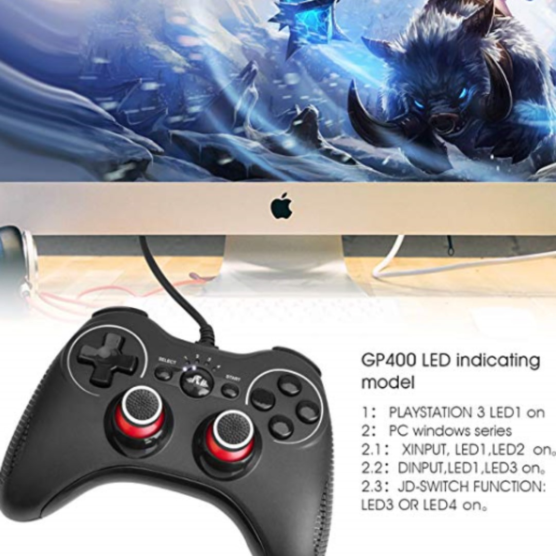 P13 Rii GP400 USB Gamepad for PC, Play Station 3 and STEAM