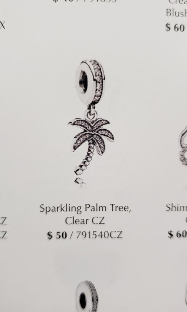 Pandora sparkling palm tree