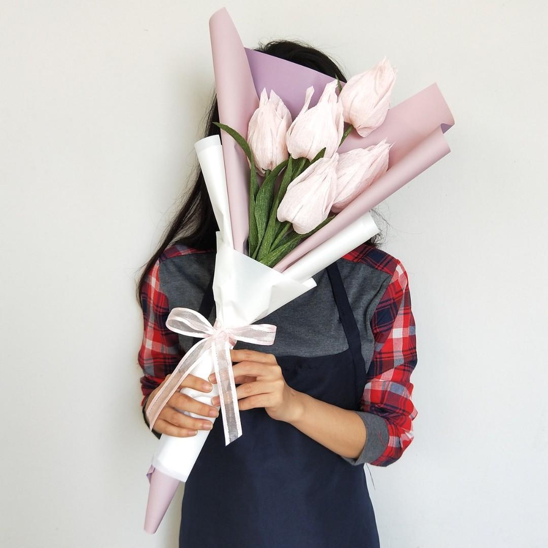 Paper Flower Bouquet Pfb1846 Big Pinkies Design Craft Handmade Craft On Carousell