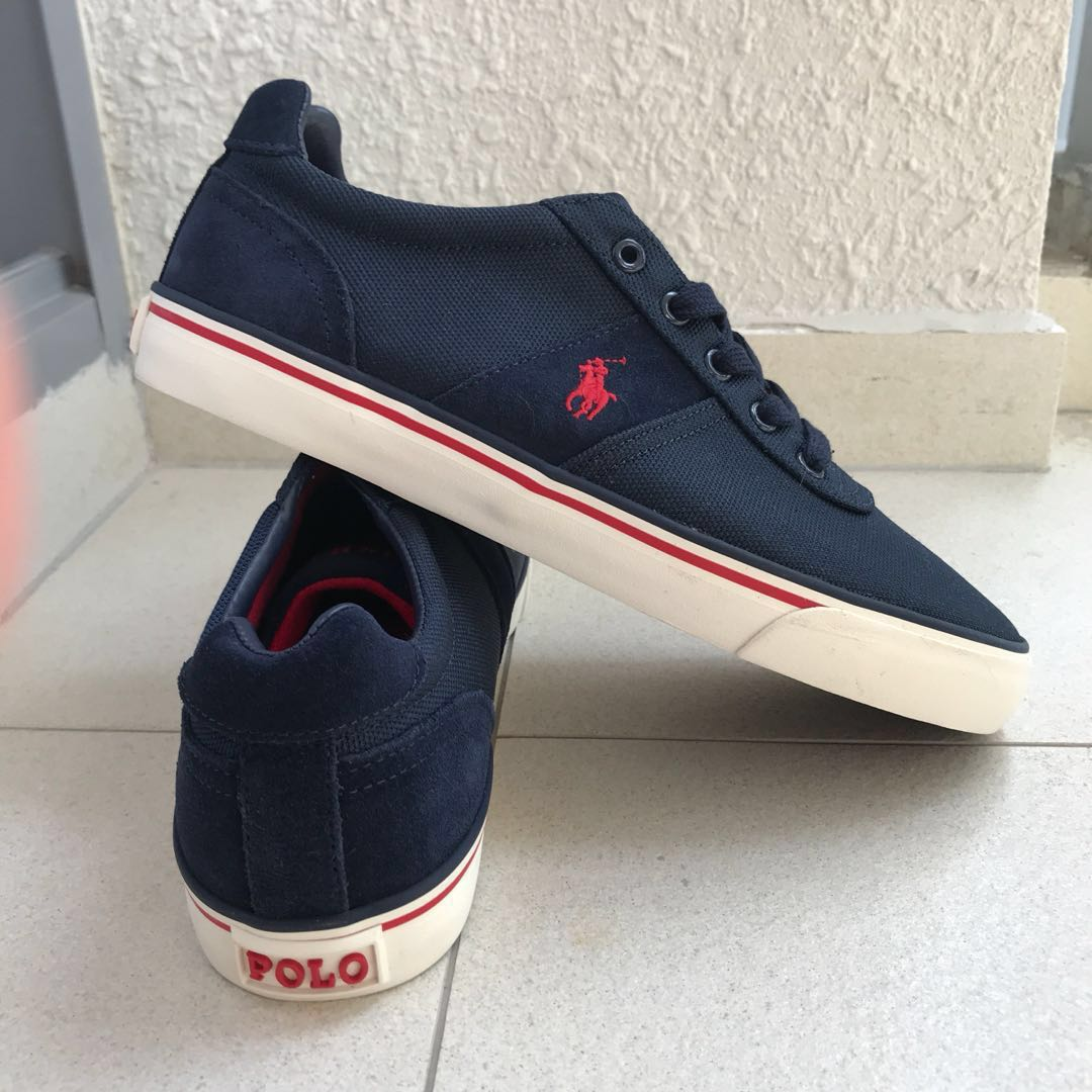 d8f016c1e63 Polo Ralph Lauren Hanford Sneakers (men, navy), Men's Fashion ...