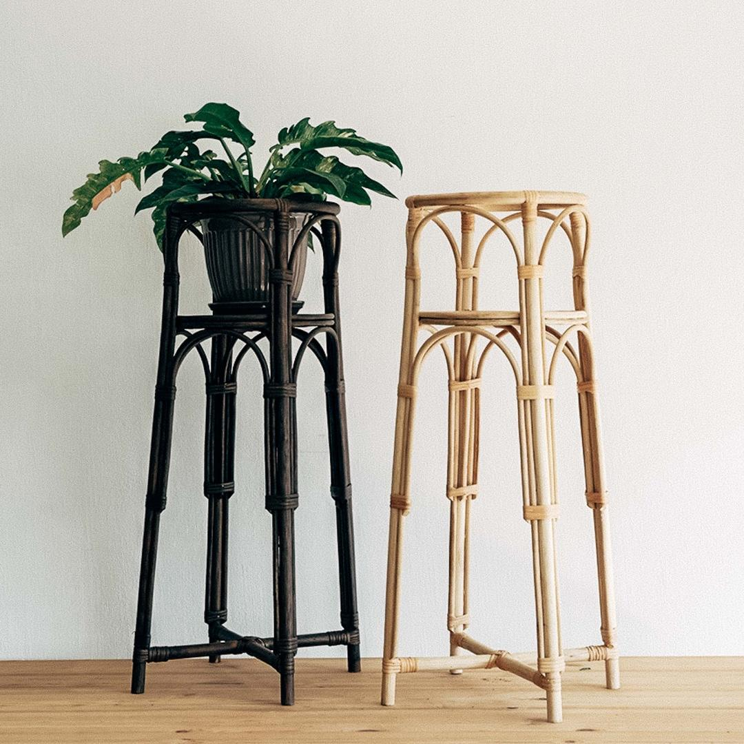 Rattan Plant Stand Gardening Gardening Tools Ornaments On Carousell