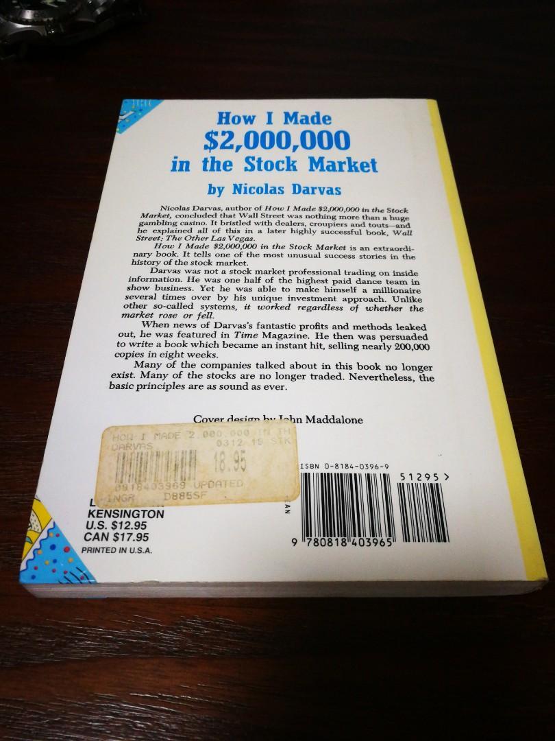 Stock Market BY NIVOLAS DARVAS 絕版