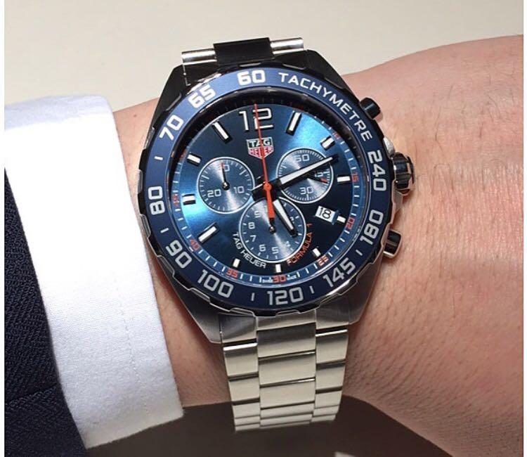 7f3102f0312 Tag Heuer Formula 1 Chronograph Blue Dial Men's Watch CAZ1014.BA0842 ...