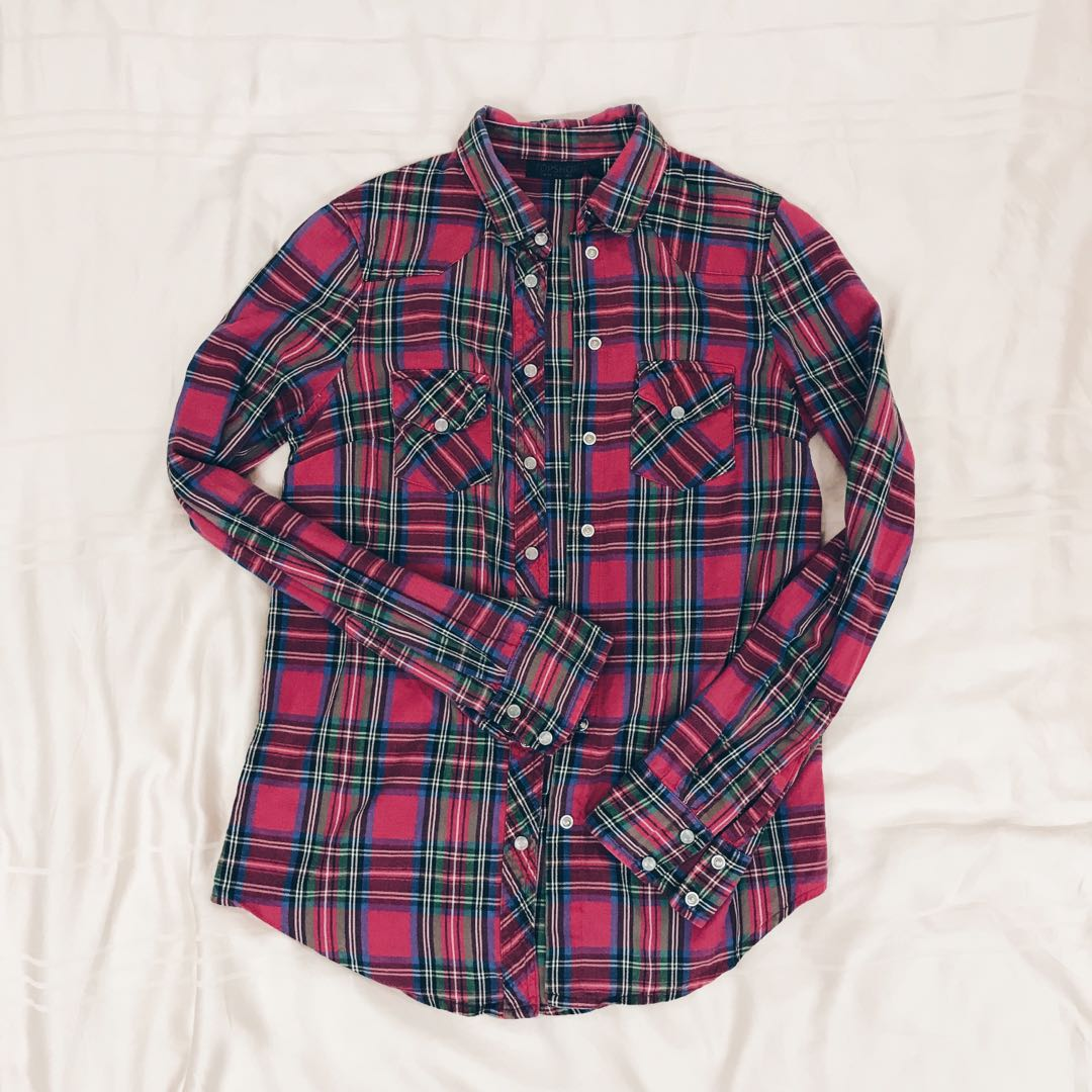 69fa30ca5 Red Tartan Shirt Topshop - DREAMWORKS
