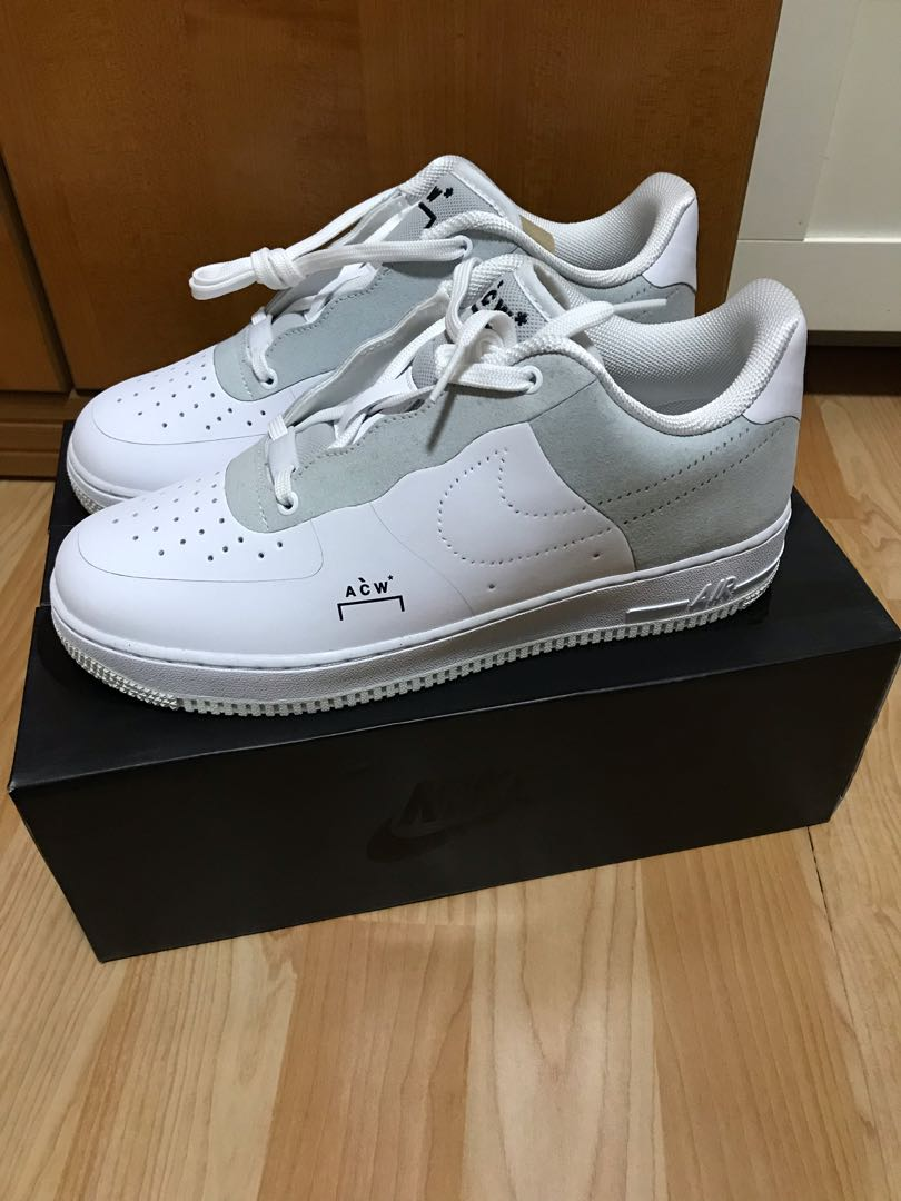 wholesale dealer 487da fa93a US9.5 Nike X A Cold Wall ACW Air Force 1, White, Mens Fashion, Footwear,  Sneakers on Carousell