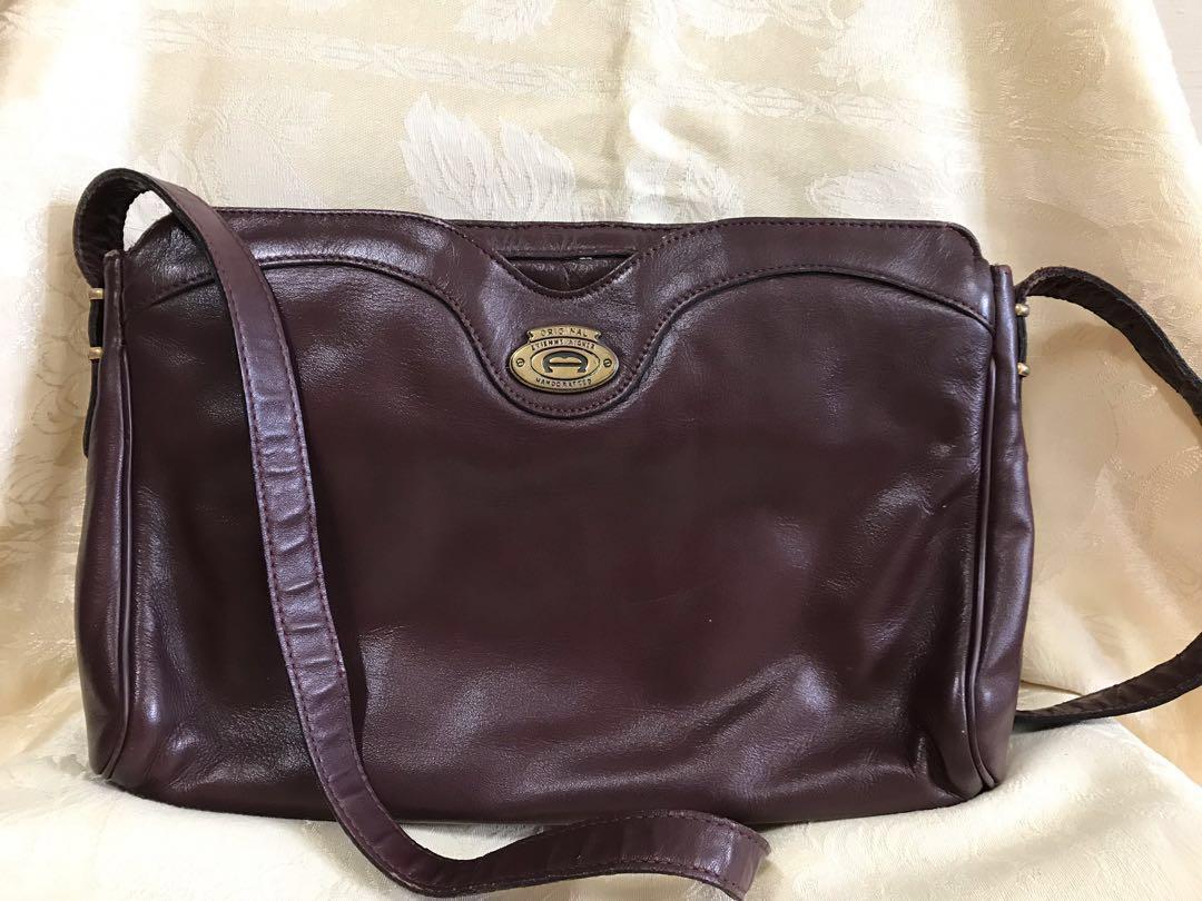 Vintage Etienne Aigner Leather Handbag b4c90f60d6cb2