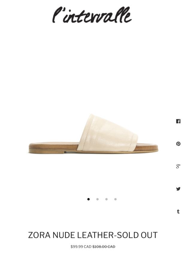 Women's Leather Slides 37 (Leather from Spain)