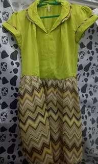 Dress hijau casual nan klasik