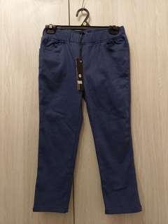 🚚 全新藍色丹寧七分牛仔褲