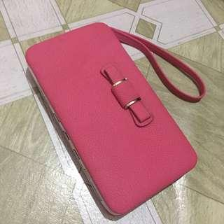Pink wallet and phone case
