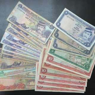 Brunei 2nd And 3rd Series Notes Face Value Of $97