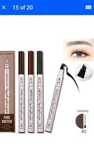 Free NM*BN Music Flower/Phoera/Sevich Microblading Waterproof Eyebrow Tattoo Pen Long Lasting Cosmetic FORK DESIGN (free 2 Pcs eyebrow templates w/every purchase!) Instock only grey avail