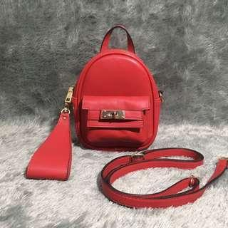 Enji Palomino Backpack Mini Ransel Tas Merah